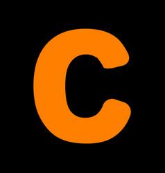 Letter c sign design template element orange icon vector