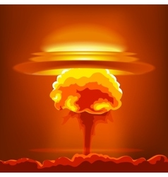 Nuclear explosion with dust vector