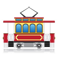 old retro tram vector image