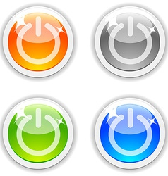 Onoff buttons vector