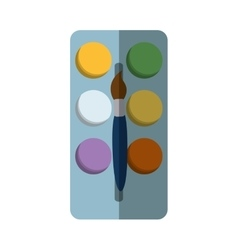 paint pallete isolated icon vector image