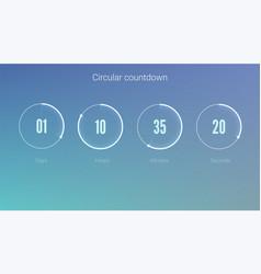 Part of the user interface circular clock clock vector