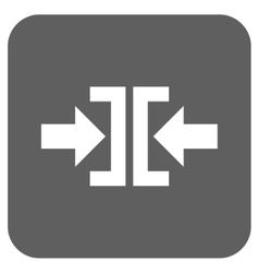 Press horizontal direction flat squared vector