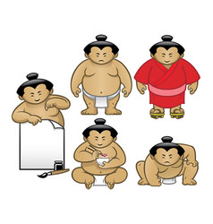 sumo character collection set vector image