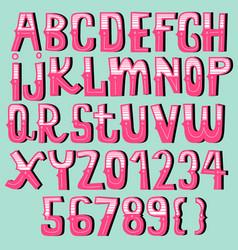 vintage font collectioncartoon font vector image vector image
