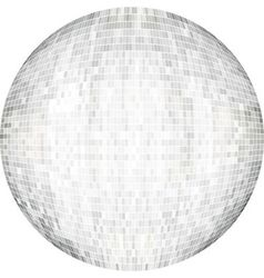 White ball in mosaic vector