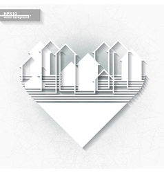 White infographic template with abstract city vector image vector image