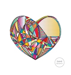 Hearts hand drawn background abstract vector