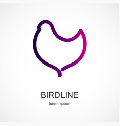 Bird symbol design vector