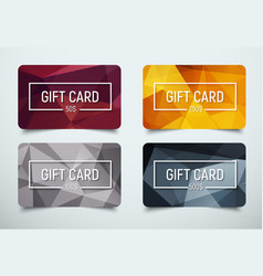 Design a gift card with a frame for text and vector