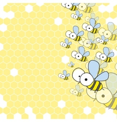 Bees And Honeycomb Spring Background vector image