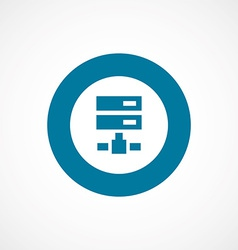 net drive bold blue border circle icon vector image