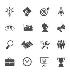 Business Strategy Icon Set vector image