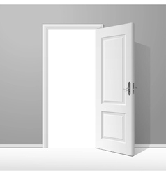 White open door with frame vector