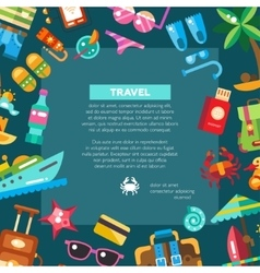 Flyer of modern flat design seaside travel vector