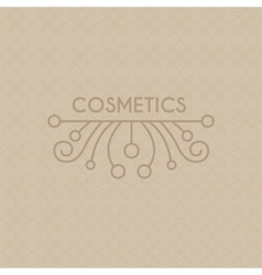 Beauty industry lettering and curls set vector