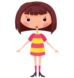 Cartoon little girl vector