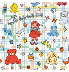 Doodles seamless background vector