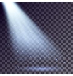 Blue rays from spotlight vector