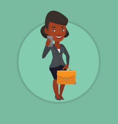 business woman making selfie vector image vector image