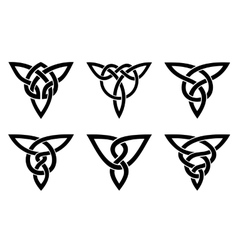 celtic knot set vector image vector image