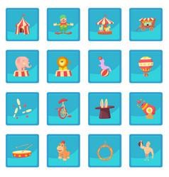 Circus icon blue app vector
