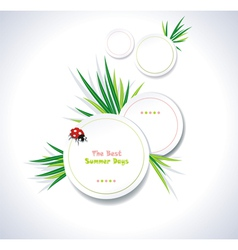 Clean summer stickers vector image vector image