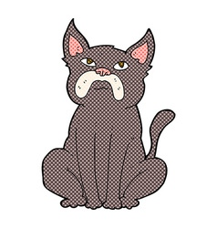 Comic cartoon grumpy little dog vector