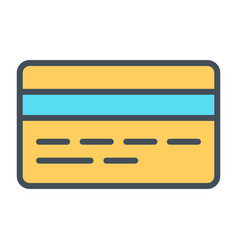 credit card pixel perfect thin line icon 48x48 vector image vector image