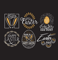 easter wishes logo labels vector image