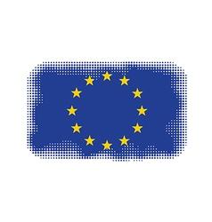 eu flag halftone vector image