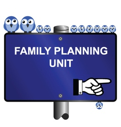 family planning vector image vector image