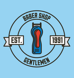 gentleman barber shop vector image