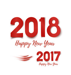 Happy new year 2017- 2018 greeting card template vector