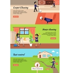 House cleaning pest control cleaning carpet vector