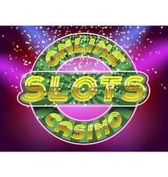 Jackpot casino slots vector