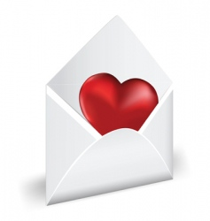 love mail vector image vector image