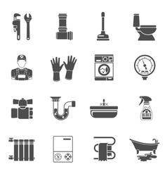 Plumbing Service Icons Set vector image vector image