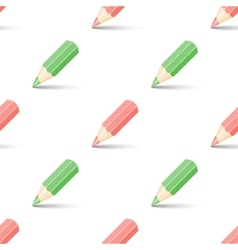Red and green pencils vector image vector image