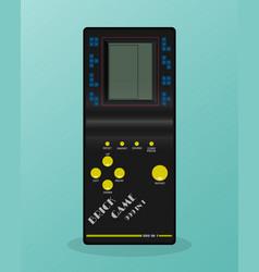 Retro tetris electronic game vintage style pocket vector