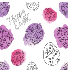 Seamless pattern with eater eggs vector