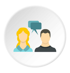 sms chat friends icon circle vector image vector image
