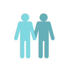 Two men gay icon flat style vector