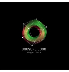 Unusual abstract geometric shapes logo vector image vector image