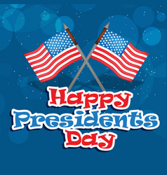 Usa presidents day background vector