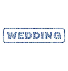 Wedding textile stamp vector