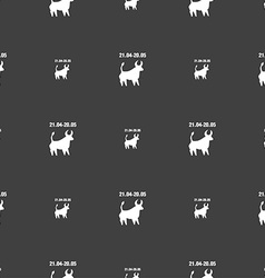 Taurus sign seamless pattern on a gray background vector