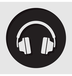 Information icon - headphones vector