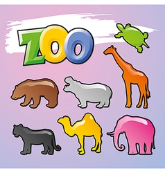 Color Zoo vector image