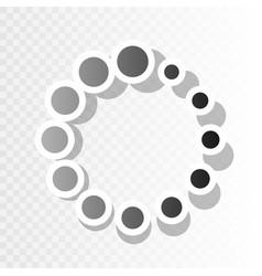 circular loading sign  new year blackish vector image